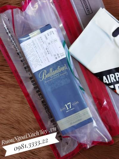 Rượu Ballantine's 17YO Duty Hàn